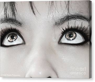 Canvas Print featuring the photograph Goddess Eyes by Ester  Rogers