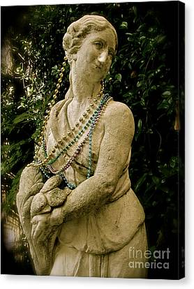 Canvas Print featuring the photograph Goddess Of The Bayou by Laura Brightwood