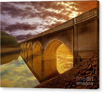 Gods Lights Canvas Print