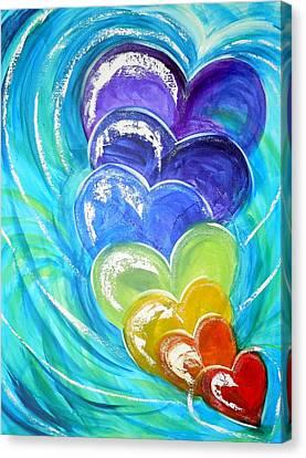 God's Pure Love Canvas Print by Deborah Brown Maher