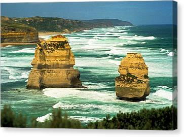 Canvas Print featuring the photograph Gog And Magog by Dennis Lundell