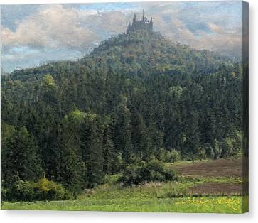 Gogentsolern Castle Canvas Print