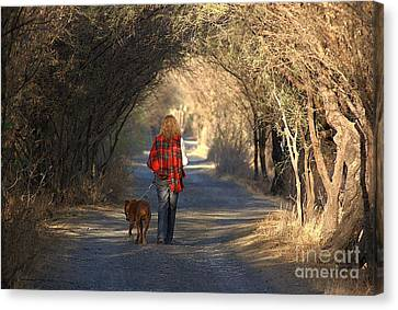 Going For A Walk  The Photograph Canvas Print by John  Kolenberg