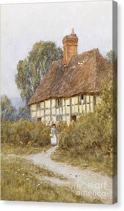 Going Shopping Canvas Print by Helen Allingham