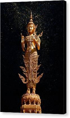 Gold Buddha  Canvas Print by Bou Lemon