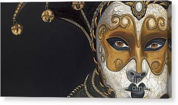 Gold Carnival Mask Canvas Print by Patty Vicknair