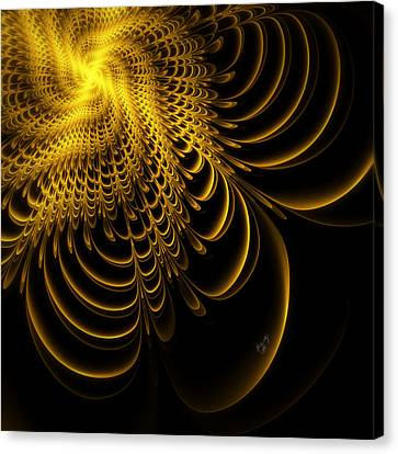 Gold Lame' Canvas Print by Karla White