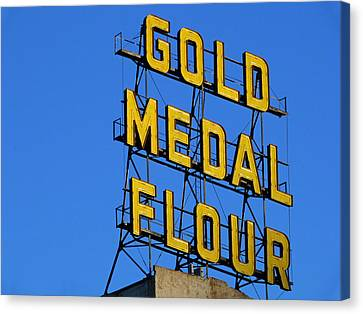 Pillsbury Canvas Print - Gold Medal Flour by Norm Holmberg