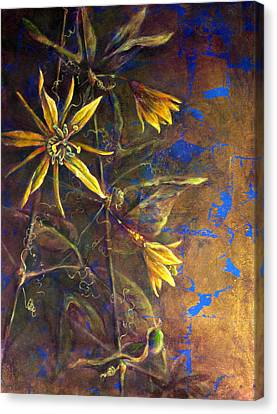 Gold Passions Canvas Print by Ashley Kujan