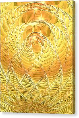 Canvas Print featuring the digital art Gold Pressed Latinum by Lea Wiggins