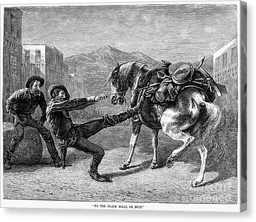 Gold Prospectors, 1876 Canvas Print by Granger