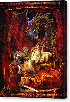Canvas Print featuring the painting Gold To Free The Queen by Steve Roberts
