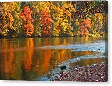 Canvas Print featuring the photograph Gold Waters by Tyra  OBryant