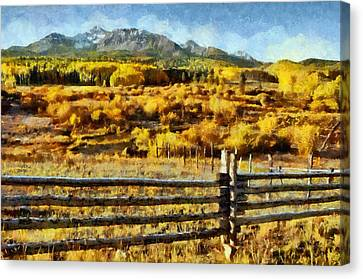 Golden Autumn Canvas Print by Jeff Kolker