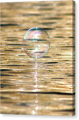 Golden Bubble Canvas Print