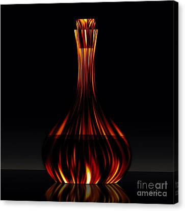 Canvas Print featuring the digital art Golden Carafe by Johnny Hildingsson