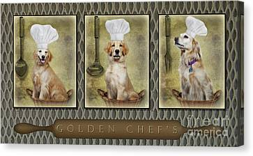 Hats Canvas Print - Golden Chef's by Susan Candelario