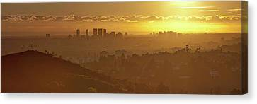 Golden City Canvas Print by Eric Lo