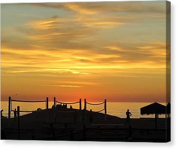 Golden Coast Sunset Canvas Print