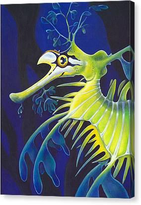 Golden Filigree Canvas Print by Sym