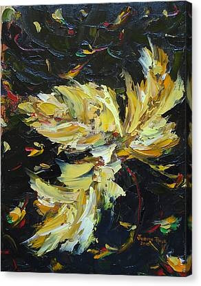 Canvas Print featuring the painting Golden Flight by Judith Rhue