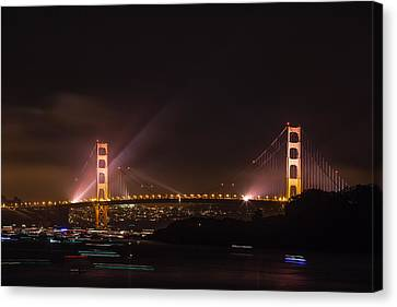 Golden Gate 75th - After The Fireworks Canvas Print