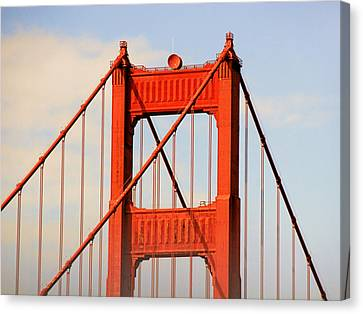 Golden Gate Bridge - Nothing Equals Its Majesty Canvas Print by Christine Till