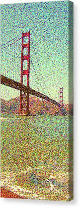 Seurat Canvas Print - Golden Gate Bridge by Peggy Starks