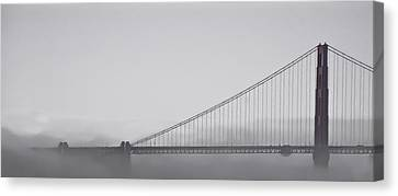 Canvas Print featuring the photograph Golden Gate Morning by Don Schwartz
