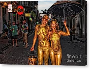 Golden Girls Of Bourbon Street  Canvas Print by Kathleen K Parker