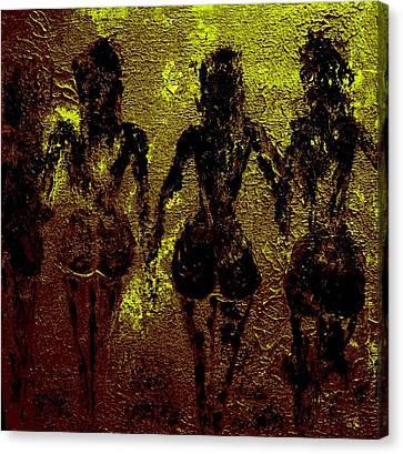 Golden Harmony Canvas Print by Piety Dsilva