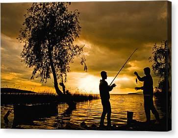 Golden Lake - 2 Canvas Print