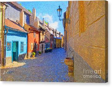 Golden Lane Canvas Print by Diane Macdonald