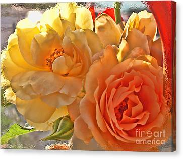 Canvas Print featuring the photograph Golden Light by Debbie Portwood
