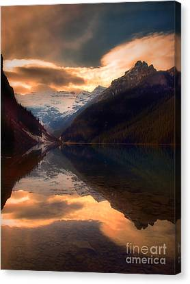 Golden Light On The Rockies Canvas Print by Tara Turner