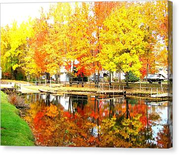 Golden Marina Canvas Print