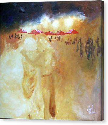 Canvas Print featuring the painting Golden Memories by Keith Thue