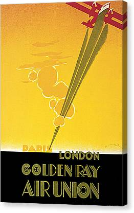Golden Ray Canvas Print by E Maurus