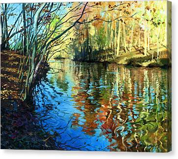 Golden Reflections Canvas Print by Sergey Zhiboedov