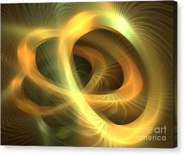 Golden Rings Canvas Print by Kim Sy Ok