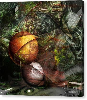 Golden Sphere Canvas Print by Monroe Snook