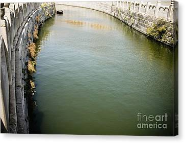 Golden Stream In The Forbidden City Canvas Print by Sam Bloomberg-rissman