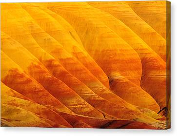 Golden Sunset At Painted Hills Canvas Print by Hegde Photos