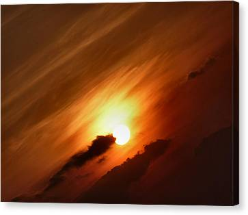Golden Sunset Canvas Print by Debra Collins