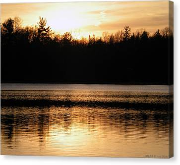 Canvas Print featuring the photograph Golden Sunset by Penny Hunt