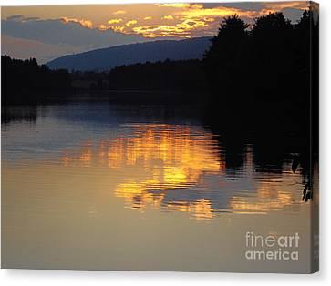 Canvas Print featuring the photograph Golden Sunset by Vilas Malankar