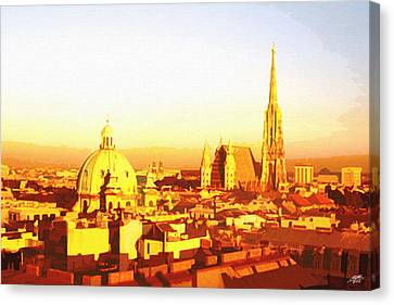 Golden Vienna Canvas Print by Steve Huang