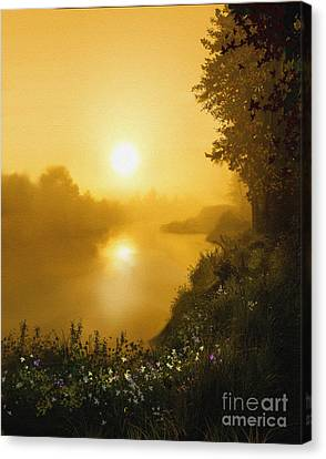 Golden View Canvas Print by Robert Foster