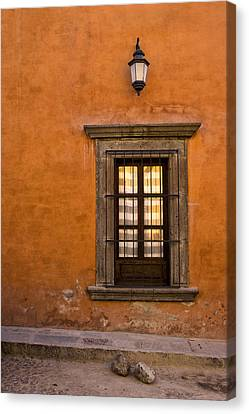 Golden Window Mexico Canvas Print by Carol Leigh