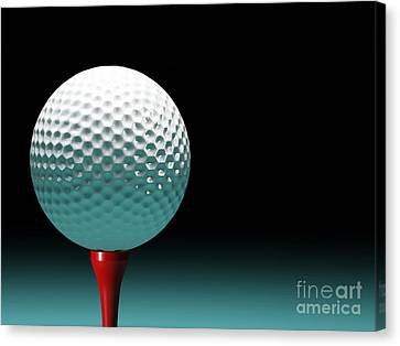 Golf Ball Canvas Print - Golf Ball by Gualtiero Boffi
